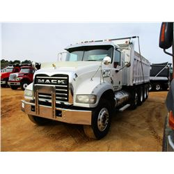 2012 MACK GU713 DUMP, VIN/SN:1M2AX04C6CM011503 - QUAD AXLE, 405HP MACK MP7 DIESEL ENGINE, MACK T310M
