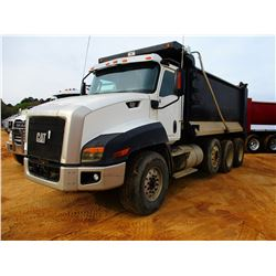 2012 CAT CT660S DUMP, VIN/SN:1HTJGTKT2CJ077057 - TRI-AXLE, CAT CT13 DIESEL ENGINE, A/T, 46K REARS, 2