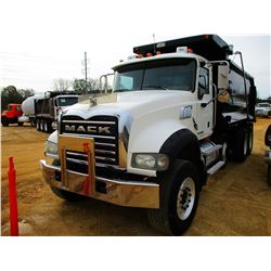 2009 MACK GU713 DUMP, VIN/SN:1M2AX09C49M003787 - TRI-AXLE, MP8 425M MACK ENGINE, ALLISON 4500RDS A/T
