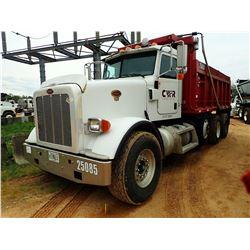 2009 PETERBILT 367 DUMP, VIN/SN:1NPTLBEX79D792149 - TRI-AXLE, 475HP C15 CAT ENGINE, 8LL TRANS, 46K R