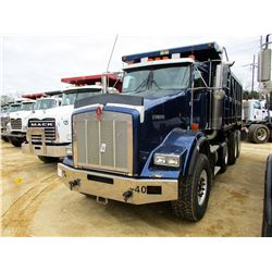 2007 KENWORTH T800 DUMP, VIN/SN:X27168842 - TRI-AXLE, 475 HP CAT C15 DIESEL ENGINE, 10 SPEED TRANS,