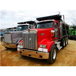 2007 KENWORTH W900 DUMP, VIN/SN:1XKWDB0X17J208288 - TRI-AXLE, 475HP CAT C15 DIESEL ENGINE, 10 SPEED