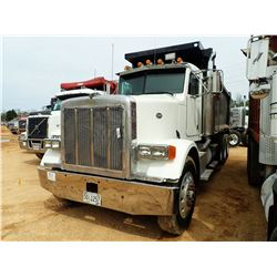 1998 PETERBILT 378 DUMP, VIN/SN:1XPFDB9X5WN444625 - TRI-AXLE, 475 HP CAT ENGINE, 10 SPEED TRANS, 40K