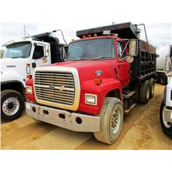 1992 FORD L9000 DUMP, VIN/SN:1FTYU90X6NVA15430 - TA/, CAT DIESEL ENGINE, 9 SPEED TRANS, 40K REARS, 1
