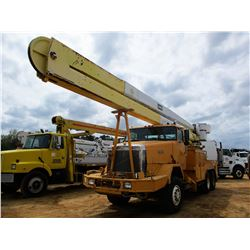 1989 AUTOCAR AT64 BUCKET TRUCK, VIN/SN:4V24GBJE5KU501624 - T/A, DIESEL ENGINE, A/T, DUNCAN SERVICE B