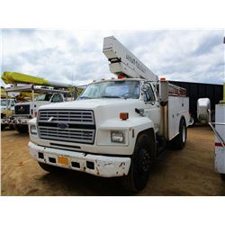 1994 FORD F700 BUCKET TRUCK, VIN/SN:1FDXK74C0RVA02977 - S/A, FORD DIESEL ENGINE, A/T, TEREX UTILITY