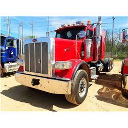 2013 PETERBILT 388 TRUCK TRACTOR, VIN/SN:1XPWP4EX9DD171247 - TRI-AXLE, 550HP CUMMINS ENGINE, 18 SPEE