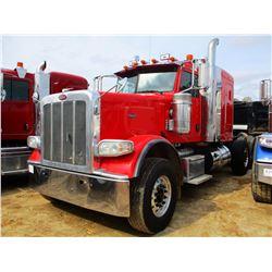 2012 PETERBILT 388 TRUCK TRACTOR, VIN/SN:1XPWP4EX5CD169073 - TRI-AXLE, 550HP CUMMINS ENGINE, 18 SPEE
