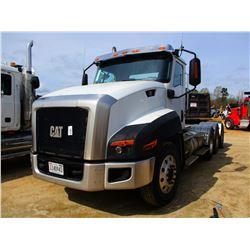 2013 CAT CT660L TRUCK TRACTOR, VIN/SN:1HSJKTLT3DJ301164 - TRI-AXLE, CT15 CAT ENGINE, 18 SPEED TRANS,