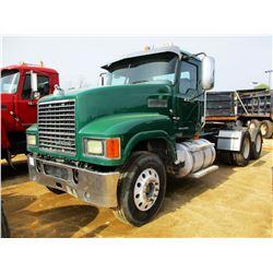 2009 MACK CHU613 TRUCK TRACTOR, VIN/SN:1M1AN09Y99N004465 - T/A, 415HP MP8 MACK ENGINE, 10 SPEED TRAN