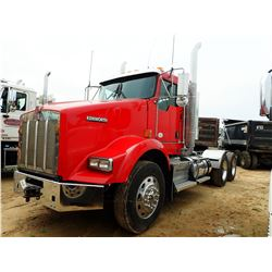 2014 KENWORTH T800 TRUCK TRACTOR, VIN/SN:1XKDDP0X9EJ416386 - T/A, PACCAR ENGINE, 10 SPEED TRANS, 46K
