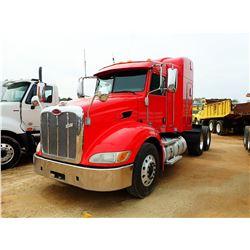 2012 PETERBILT 387 TRUCK TRACTOR, VIN/SN:1XPVDP9X8CD166071 - T/A, PACECAR MX ENGINE, 10 SPEED TRANS,