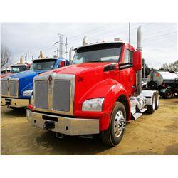 2016 KENWORTH T880 TRUCK TRACTOR, VIN/SN:1XKZD40X5GJ479315 - T/A, 450HP CUMMINS ENGINE, 10 SPEED TRA