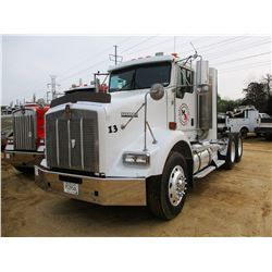 2006 KENWORTH T800 TRUCK TRACTOR, VIN/SN:1XKDDU9X46J153758 - T/A, CAT C13 DIESEL ENGINE, 10 SPEED TR