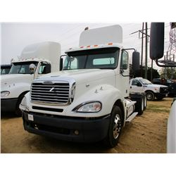 2007 FREIGHTLINER 120 TRUCK TRACTOR, VIN/SN:1FUJA6CK37LY82218 - T/A, S60 DETROIT DIESEL ENGINE, 10 S