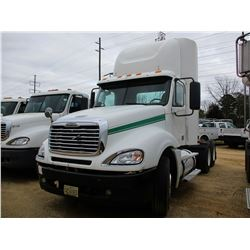 2007 FREIGHTLINER TRUCK TRACTOR, VIN/SN:1FUJA6CK67LY11322 - T/A, DISTRICK S60 DIESEL ENGINE, 10 SPEE