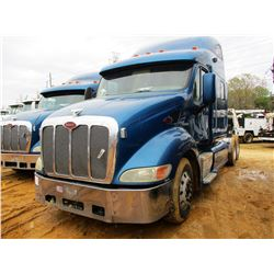 2007 PETERBUILT 387 TRUCK TRACTOR, VIN/SN:1XP7DB9X27D654210 - T/A, CAT ENGINE, 10 SPD TRANS, 36K REA