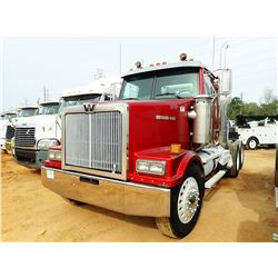2004 WESTERN STAR TRUCK TRACTOR, VIN/SN:5KJJAEAV84PM67160 - T/A, 475 HP CAT C15 ENGINE, 10 SPEED TRA