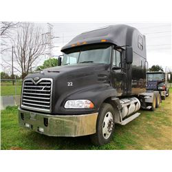 2000 MACK CX613 VISION TRUCK TRACTOR, VIN/SN:1M1AE07Y1YW002608 - T/A, E7-460 MACK ENGINE, 13 SPEED T