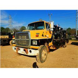 1982 FORD 8000 FUEL & LUBE TRUCK, VIN/SN:1FDYR80U9CVA53681 - S/A, CAT DIESEL ENGINE, 6 SPEED TRANS,