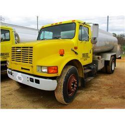 1995 INTERNATIONAL 4700 FUEL TRUCK, VIN/SN:1HTSCAAN6SH673396 - S/A, DT466 DIESEL ENGINE, A/T, 19K RE