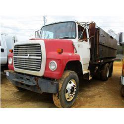 1985 FORD WATER TRUCK, VIN/SN:1FDYW80U5FVA65078 - T/A, CAT DIESEL ENGINE, 10 SPEED TRANS, GVWR 41,00