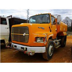 1995 FORD L9000 WATER TRUCK, VIN/SN:1FTYS95W3SVA05777 - S/A, DIESEL ENGINE, 7 SPEED TRANS, REAR, FRO