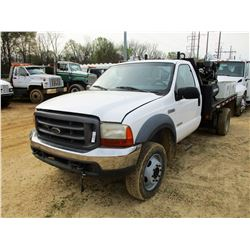 1999 FORD F550 MECHANICS TRUCK, VIN/SN:1FDNF20F1XEC88575 - DIESEL ENGINE, A/T, TOOL BOXES, AIR COMPR