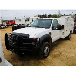 2008 FORD F550 SERVICE TRUCK, VIN/SN:1FDAF56R78EE15882 - POWER STROKE DIESEL ENGINE, A/T, READING SE