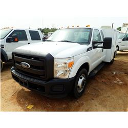 2011 FORD F350 SERVICE TRUCK, VIN/SN:1FD8X3G66BEA30163 - EXT CAB, V8 ENGINE, A/T, SERVICE BODY, ODOM