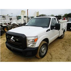 2011 FORD F250 SERVICE TRUCK, VIN/SN:1FDBF2A67BEC82564 - GAS ENGINE, A/T, OMAHA SERVICE BODY, ODOMET