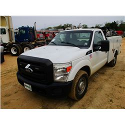 2011 FORD F250 SERVICE TRUCK, VIN/SN:1FDBF2A60BEC82566 - GAS ENGINE, A/T, OMAHA SERVICE BODY, ODOMET