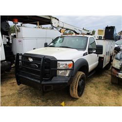 2012 FORD F550 SERVICE TRUCK, VIN/SN:1FDUF5HYXCEA99114 - 4X4, FORD DIESEL ENGINE, A/T, MAINTAINER SE