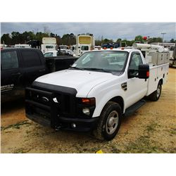 2008 FORD F350 SERVICE TRUCK, VIN/SN:1FDSF34548ED85779 - V8 GAS ENGINE, A/T, READING SERVICE BODY, O