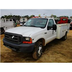 1999 FORD F450 SERVICE TRUCK, VIN/SN:1FDXF46F6XEB53782 - FORD DIESEL ENGINE, A/T, RAWSON KOEING SERV