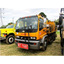 1999 CHEVROLET T8500 STRIPING TRUCK, VIN/SN:1GBP7C1C4XJ105489 - ODOMETER READING 62,331 MILES (COUNT