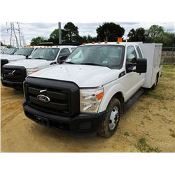 2011 FORD F350 FLATBED TRUCK, VIN/SN:1FD8X3G66BEB40811 - EXTENDED CAB, GAS ENGINE, A/T, 9' FLATBED B