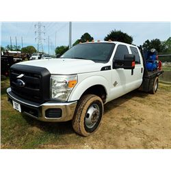 2011 FORD F350 FLATBED TRUCK, VIN/SN:1FT8W3DT6BEC84361 - CREW CAB, FORD POWERSTROKE DIESEL ENGINE, A