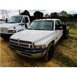 2005 DODGE RAM 3500 FLATBED TRUCK, VIN/SN:3D7MR48C45G714168 - EXT CAB, CUMMINS DIESEL ENGINE, 6 SPEE