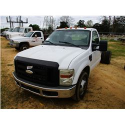 2009 FORD F350 CAB & CHASSIS, VIN/SN:1FDWF36R29EA00321 - POWERSTROKE DIESEL ENGINE, A/T, ODOMETER RE