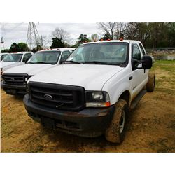 2003 FORD F350 CAB & CHASSIS, VIN/SN:1FDSX35P33EC27844 - 4X4, EXT CAB, POWERSTROKE FORD DIESEL ENGIN