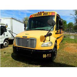 2008 THOMAS SCHOOL BUS, VIN/SN:4UZABRC508CY48367 - S/A, DIESEL ENGINE, A/T, 48 PASSENGER