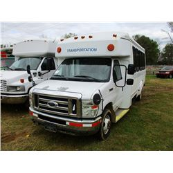 2008 FORD E450 BUS, VIN/SN:1FD4E45568DB51669 - 15 PASSENGER, 6.8 GAS ENGINE, A/T, ODOMETER READING 1