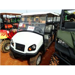 CLUB CAR GOLF CART, VIN/SN:MK1749-83766 - GAS ENGINE, DUMP BODY, WINDHSIELD, CANOPY, METER READING 3