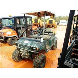 CLUB CAR GOLF CART, VIN/SN:AQ0521-509615 - ELECTRIC, WINCH, CANOPY (CHARGER IN SECURITY OFFICE)