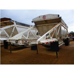 2011 RANCO BELLY DUMP TRAILER, VIN/SN:1D9SD4027BR661168 - T/A, 40' LENGTH, 21 YD CAP, 11R24.5 TIRES,