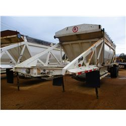 2011 RANCO BELLY DUMP TRAILER, VIN/SN:1D9SD4027BR661168 - T/A, 40' LENGTH, 21 YD CAP, 11R24.5 TIRES,