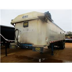 "2017 MAC DUMP TRAILER, VIN/SN:5MADA3023HS039501 - T/A, 30' LENGTH, 38"" HIGH SIDE, SMOOTH SLIDE ALUM"
