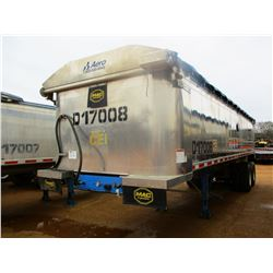 "2017 MAC DUMP TRAILER, VIN/SN:5MADA3025HS039502 - T/A, 30' LENGTH, 38"" HIGH SIDE, SMOOTH SLIDE ALUM"