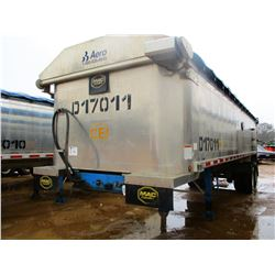 "2017 MAC DUMP TRAILER, VIN/SN:5MADA3020HS039505 - T/A, 30' LENGTH, 38"" HIGH SIDE, SMOOTH SLIDE ALUM"